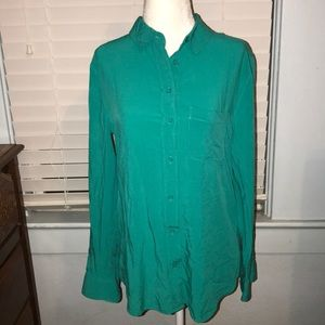 Banana Republic women's blouse, teal, small
